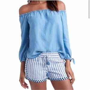 Vineyard Vines Off The Shoulder Chambray Top 4